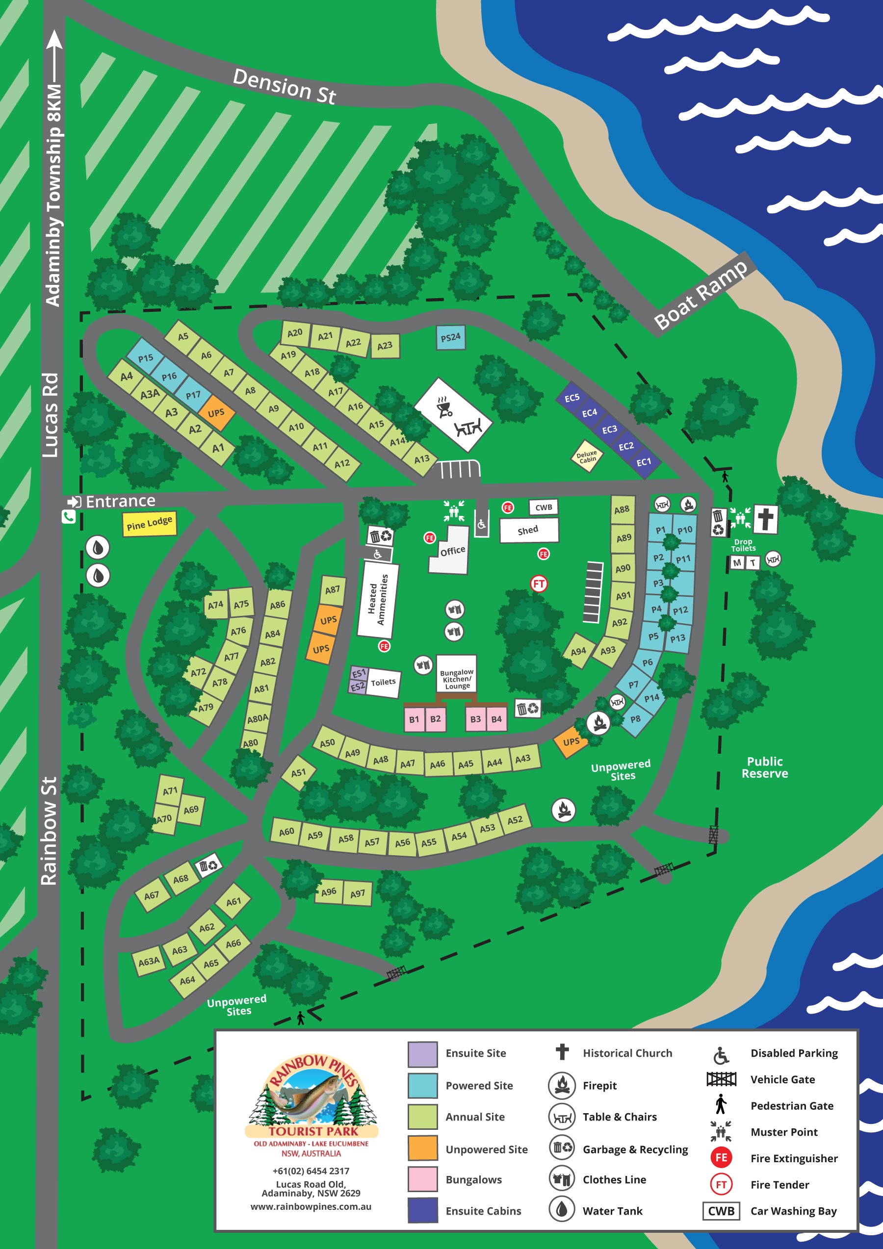 Rainbow Pines Park Map